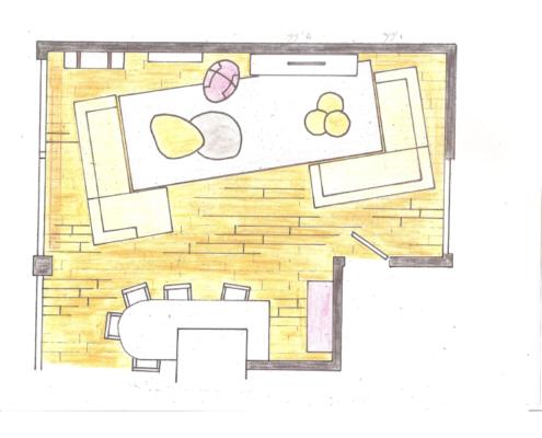 Benthuizen interieurtekening
