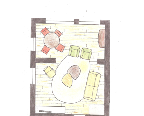 Mettmann interieur tekening