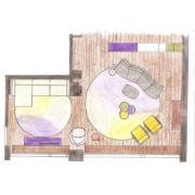 Zevenaar interieurtekening